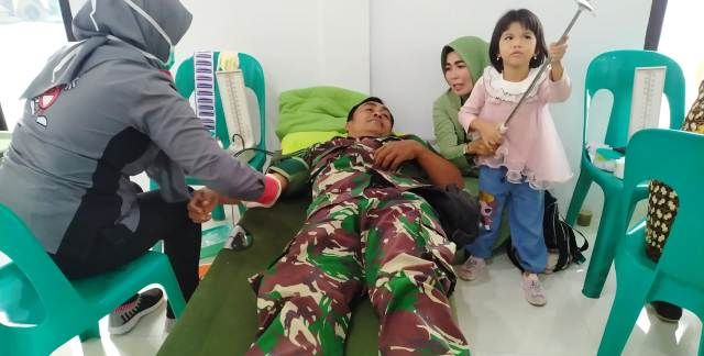 Kegiatan Donor Darah Kodim 0419/Tanjab bekerjasama dengan Unit UTD RSUD KH Daud Arif, Kamis (19/09/19