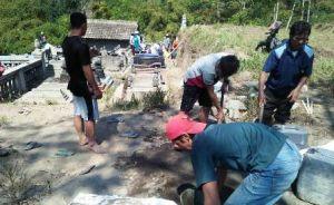 Terinspirasi TNI, Gotong Royong di Desa Sangup Meningkat