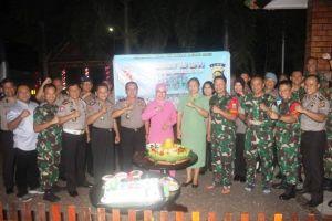 HUT TNI ke 74, Kapolda Jambi Beri Kejutan ke Danrem 042/Gapu