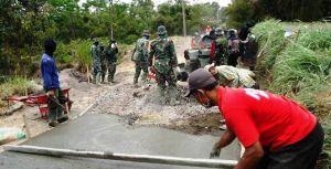 Target Masih Banyak, TNI Satgas TMMD Pacu Semangat