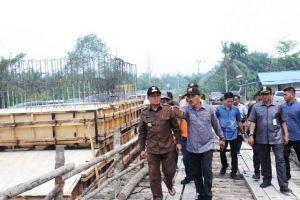 PUPR Provinsi Jambi Perbarui Jembatan Bram Hitam di Tanjabbar