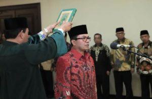 Prof Suaidi Dilantik Langsung Sebagai Rektor Oleh Menteri Agama