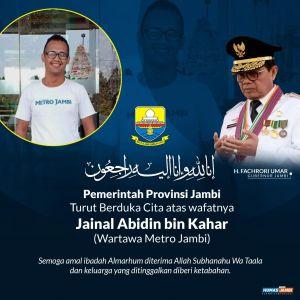 Gubernur Jambi Sampaikan Duka Atas Wafatnya Wartawan Metro Jambi Zainal Abidin