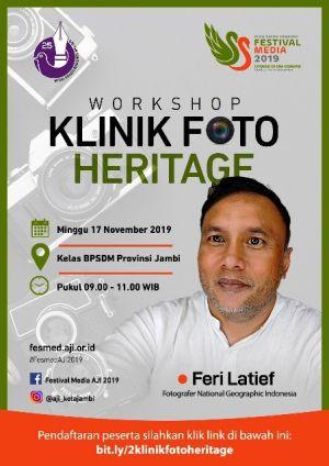 Kontributor Foto dari National Geographic Indonesia Isi Klinik Foto Heritage di Fesmed AJI 2019