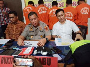 Diiming-imingi Rp25 Juta, Kurir Narkoba Dibekuk di Pelabuhan Marina Kualatungkal