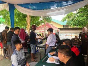 54 Pelanggar Lalin di Kawasan Tugu Keris Jambi Langsung Sidang Di Tempat
