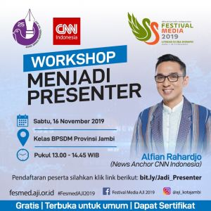 Mau Belajar Jadi Presenter, Catat Jadwalnya Bersama Alfian Rahardjo CNN Indonesia di Fesmed 2019