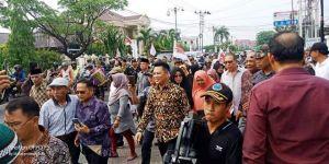 Semboyan Bungo Menang Iringi Erick Muhammad Endrizal menuju BH 1 Bungo