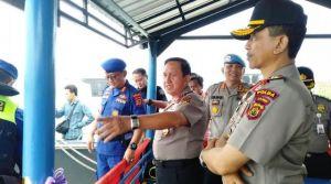 Kapolda Jambi Resmikan Tiga Kapal Patroli dari Korpolairud Baharkam Polri di Perairan Batanghari