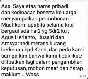 Screenshot Pesan WhatsApp Dianto Ke Pejabat yang Nonjob Beredar, Ini Katanya