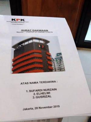 KPK Limpahkan Kasus 3 Tersangka Suap Ketok Palu ke PN Tipikor Jambi