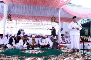 Hadiri Haul Akbar Syekh Abdul Qodir Al Jilani,  Bupati Ajak Ulama Umaro Bersatu