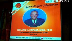 Rektor Terpilih Unja Prof Sutrisno, Ini Profilnya