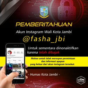 Akun Instagram Walikota Jambi Dibajak