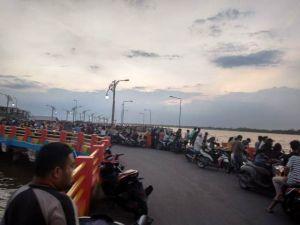 Remaja Tenggelam di  Water Front City Kualatungkal, Tim Basarnas dan Polair Lakukan Pencarian