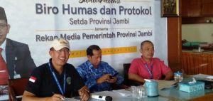 Coffe Morning Bersama Media, Biro Humas Provinsi Jambi Perkenalkan Pejabat Baru
