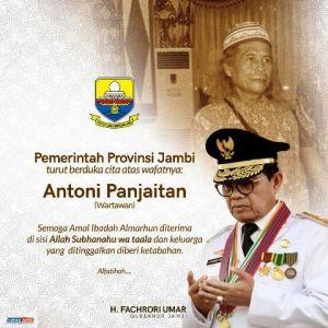 Fachrori Turut Berduka Atas Wafatnya Antoni Panjaitan, Wartawan Mitra Pemprov Jambi