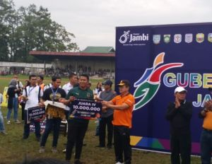 Wakapolda Jambi Saksikan Keseruan Final Gubernur Cup 2020