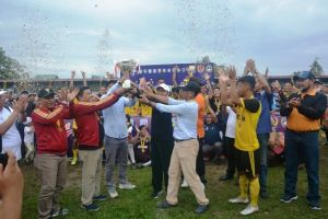 Tutup Gubernur Cup 2020, Fachrori Harap Pembinaan Sepak Bola Jambi Terus Meningkat
