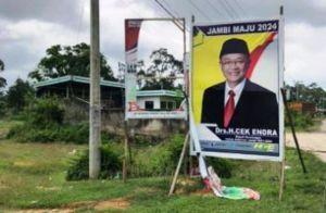 Dapati Baliho di Sarolangun Kembali Rusak, GEMA: Tanda Wo Haris Kuat!