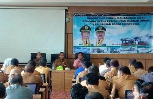 Dihadiri Sekda, Bappeda Gelar Konsultasi Publik Rancangan Awal RKPD 2021
