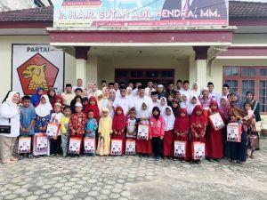 HUT Gerindra Ke 12, SAH Beri Santunan Anak Yatim Di DPD Partai Gerindra Provinsi Jambi