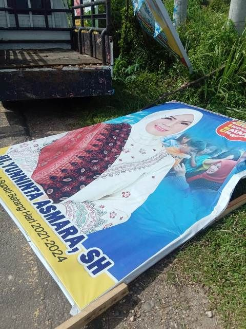 Relawan YA: Baleho Dirusak Kami Bergerak, Jangan Ganggu Ibu Yunninta