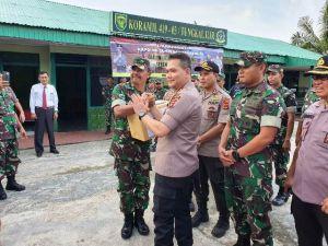 Perkuat Sinergitas TNI-POLRI, Kapolda Jambi Kunjungi Koramil Tungkal Ilir