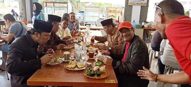 Ini Potret HBA, Edi Purwanto dan Abdullah Sani Sarapan Bersama dengan Djarot Saiful Hidayat
