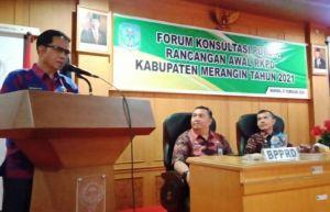 Asisten II Buka Forum Konsultasi Publik Rancangan Awal RKPD Kab MeranginTahun 2021