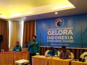 Punya Anggota yang Solid, Gelora Jambi Segera Putuskan Dukungan di Pilkada dan Pilgub 2020