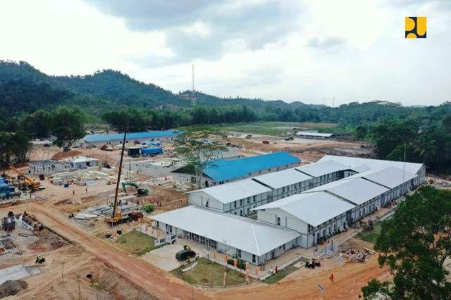 Pembangunan Fasilitas Penyakit Infeksi 'Emerging' di Pulau Galang. (Foto: Kementerian PUPR)