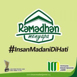 Ramadhan Menyapa, Insan Madani: Tunaikan ZIS, Insya Allah C-19 Lenyap
