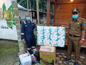 SKK Migas-PetroChina Serahkan Bantuan Covid-19 ke Warga Desa di Tanjung Jabung Barat