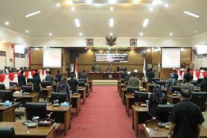 DPRD Tanjabbar Rapat Paripurna Usulan RAPERDA Inisiatif Dewan dan Penyampaian Hasil Reses