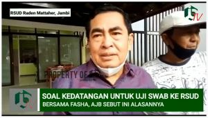 VIDEO: Wawancara AJB Usai Datangi RSUD untuk Jalani Uji Swab