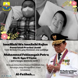 Gubernur Jambi Sampaikan Duka Cita Wafatnya Ananda Bian Putra Walikota: Semoga Husnul Khatimah