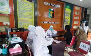 Sebelum Dijebloskan ke Lapas, 24 Napi di Polres Muaro Jambi Dirapit Test