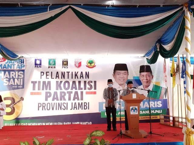 Lantik Tim Koalisi yang Dihadiri 150 Lebih Anggota DPRD, Haris: Gunakan Cara Elegan