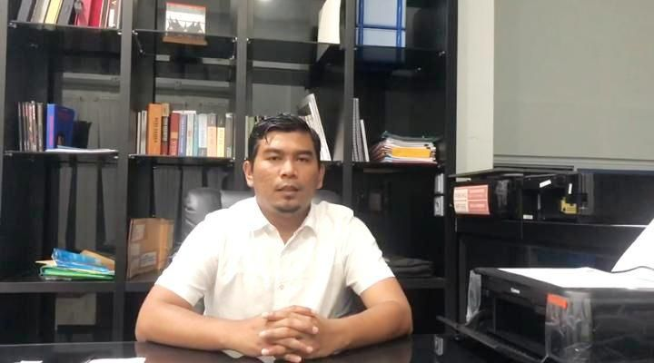 Waka DPRD Provinsi Jambi Rocky Candra ketika menyampaikan bahwa anak istrinya terkonfirmasi Covid-19