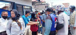 Peringati Sumpah Pemuda, KNPI Sarolangun Bakti Sosial dan Bagikan Masker ke Warga
