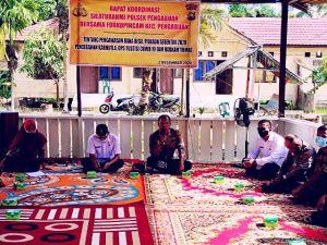 Putus Rantai Sebaran Covid-19, Satgas dan Polsek Pengabuan Sosialisasikan 3M