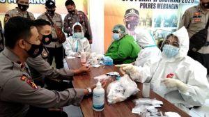 215 Orang Personil Polisi di Merangin Jalani Rapid Tes