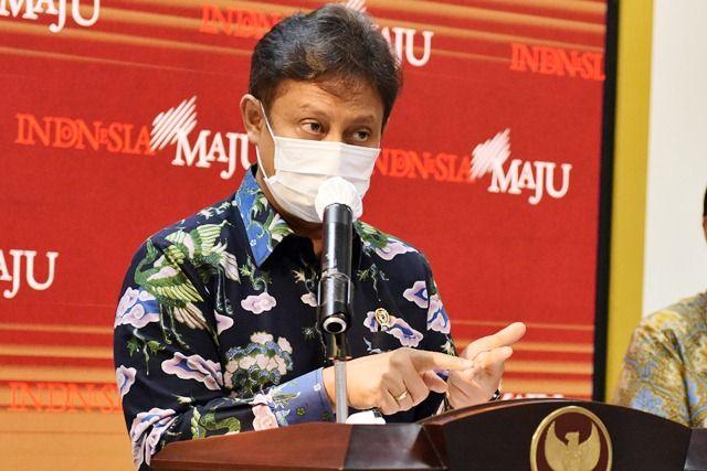 Menteri Kesehatan Budi Gunadi Sadikin memberikan keterangan pers usai Ratas, Senin (11/01/2021) siang. (Foto: Humas/Rahmat)