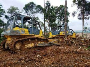 Alat Berat Masuk ke Desa Sungai Langkap, Warga Nyatakan Protes