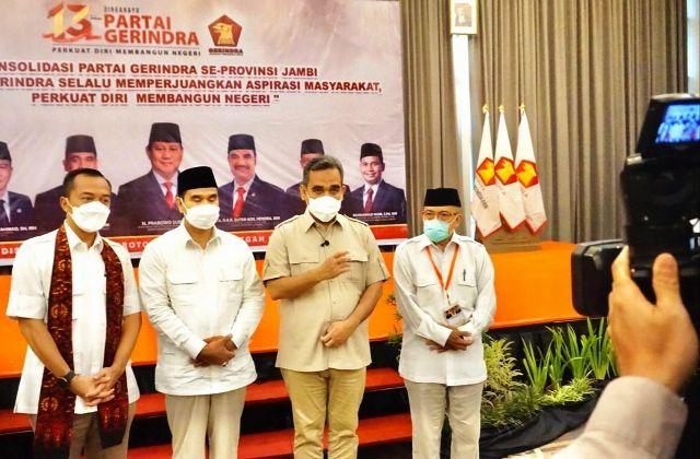 Sekjen DPP Partai Gerindra Ahmad Muzani Tegaskan Tidak Ada Pergantian Ketua DPD Gerindra Jambi