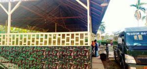TNI dan santri Bersatu Hias Lokasi Pembukaan TMMD, Begini Penampakannya