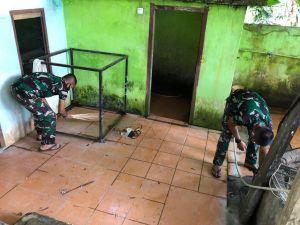 Lagi, Satgas TMMD Bersihkan Masjid di Desa Mekar Jaya