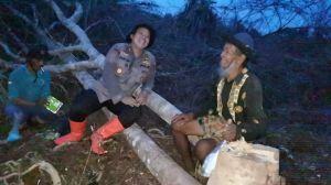 Sambang Bermalam Polres Tanjabbar ke Warga Sungai Baung, Lestarikan Kearifan Lokal Cegah Karhutla
