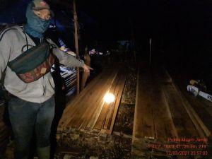Tim Gabungan Dapati Peralatan Pembalakan Liar di Kawasan Hutan Produksi Muaro Jambi
